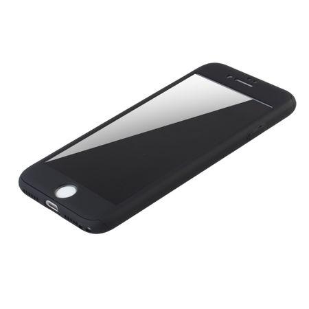 Apple iPhone 6 / 6s Handy-Hülle Schutz-Case Cover Panzer Schutz Glas Schwarz – Bild 4