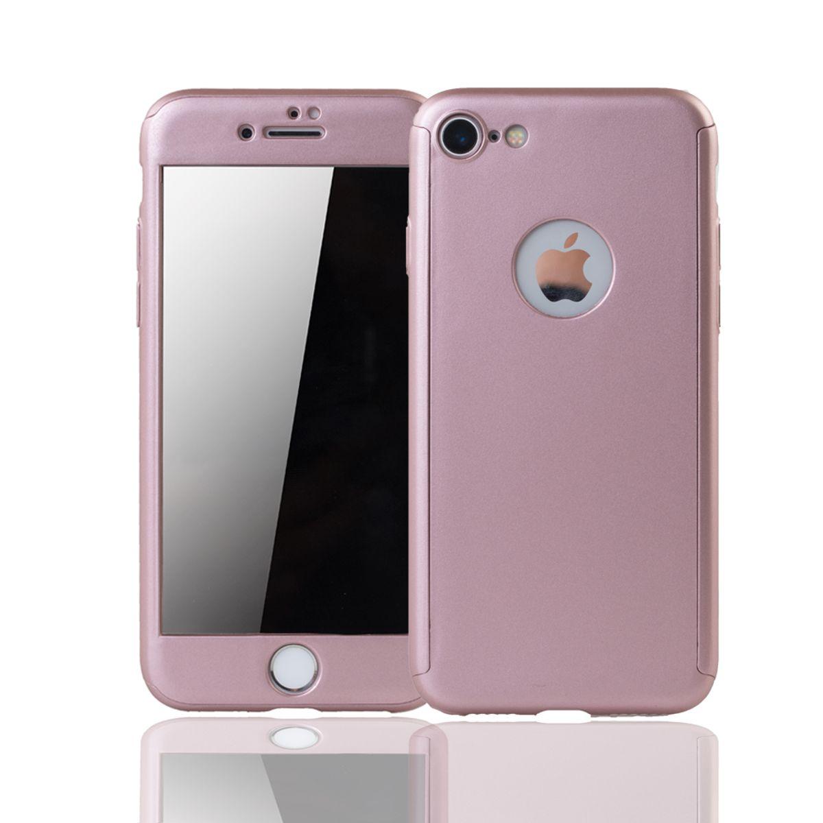 apple iphone 7 handy h lle schutz case 360 full cover panzer schutz glas rose