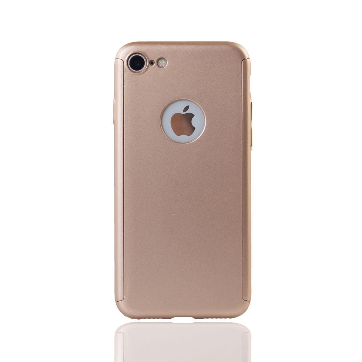 apple iphone 7 handy h lle schutz case 360 full cover panzer schutz glas gold. Black Bedroom Furniture Sets. Home Design Ideas