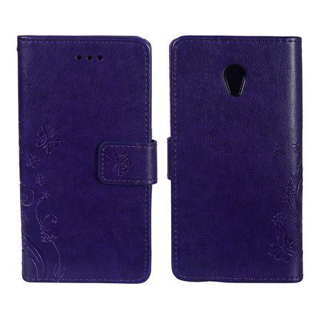 Schutz Hülle Blumen für Handy ZTE Blade V7 Violett – Bild 3