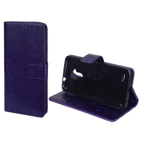 Schutz Hülle Blumen für Handy ZTE Blade V7 Lite Violett – Bild 2