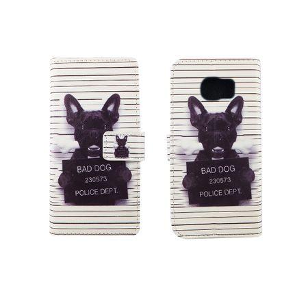 Handyhülle Tasche für Handy Samsung Galaxy S6 Edge Böser Hund Weiß – Bild 6