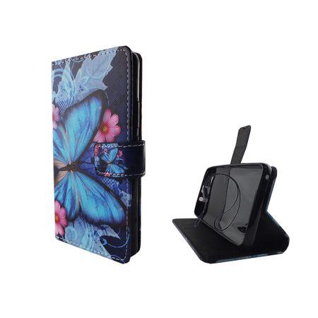 Handyhülle Tasche für Handy Wiko Jerry Blauer Schmetterling – Bild 5
