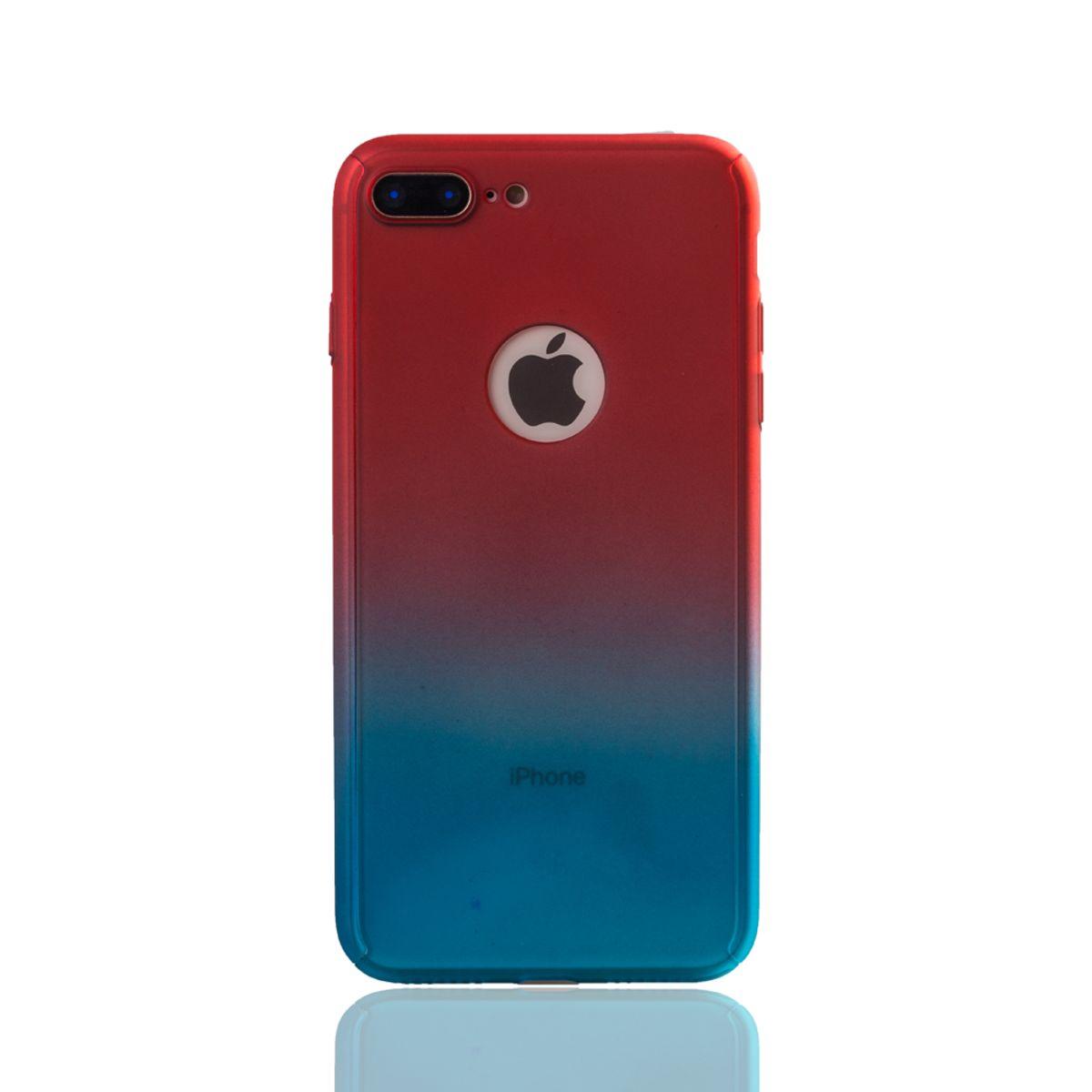 apple iphone 7 plus handy h lle schutz case cover panzer schutz glas rot blau. Black Bedroom Furniture Sets. Home Design Ideas