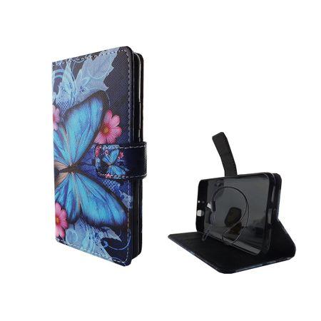 Handyhülle Tasche für Handy ZTE Blade V7 Blauer Schmetterling – Bild 5