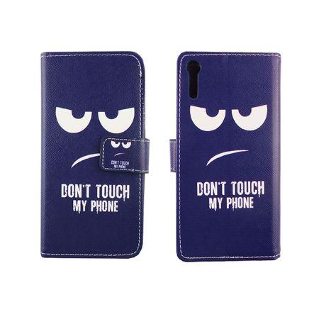 Handyhülle Tasche für Handy Sony Xperia XZ Dont Touch my Phone – Bild 3