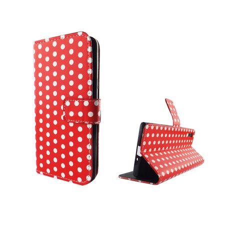 Handyhülle Tasche für Handy Sony Xperia XZ Polka Dot Rot – Bild 1