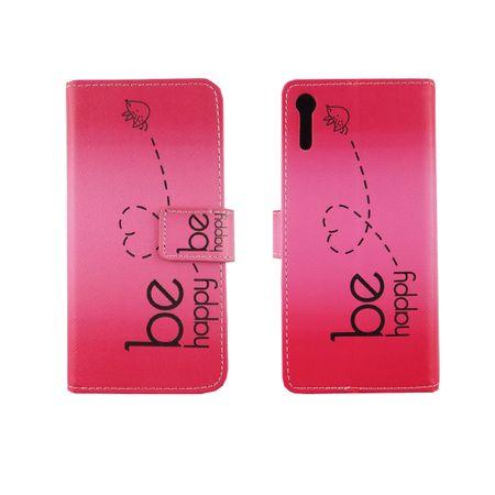 Handyhülle Tasche für Handy Sony Xperia XZ Be Happy Pink – Bild 6