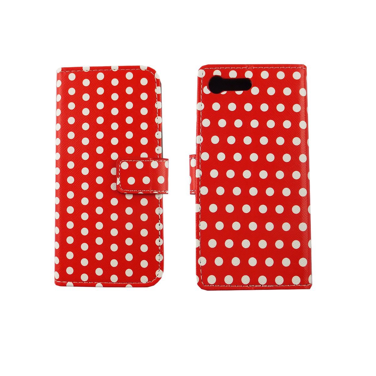 handyh lle tasche f r handy sony xperia x compact polka. Black Bedroom Furniture Sets. Home Design Ideas