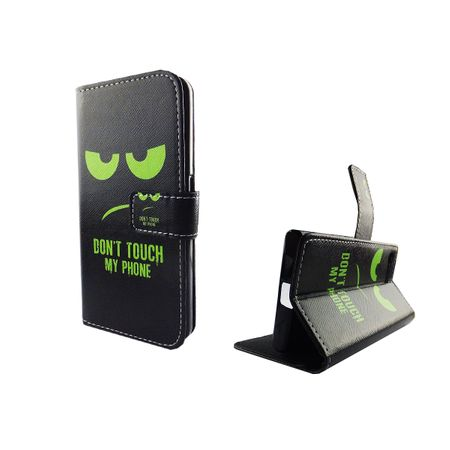 Handyhülle Tasche für Handy Sony Xperia X Compact Dont Touch My Phone Grün