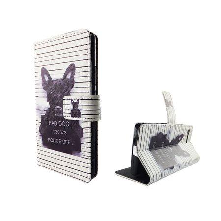 Handyhülle Tasche für Handy Sony Xperia X Compact Böser Hund Weiß