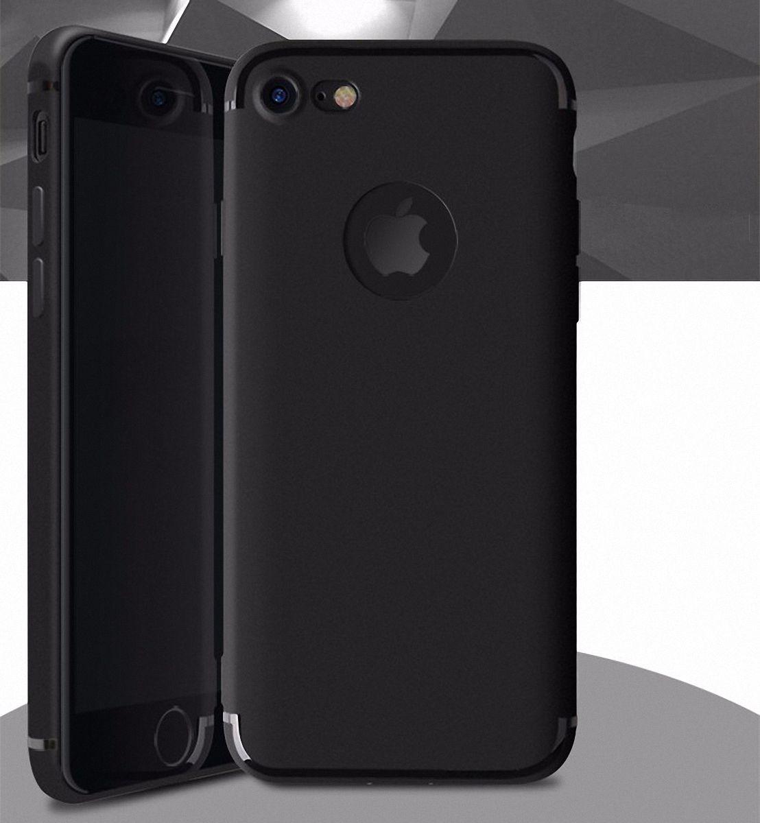 apple iphone 6 plus 6s plus handyh lle bumper case schwarz silikon h lle. Black Bedroom Furniture Sets. Home Design Ideas