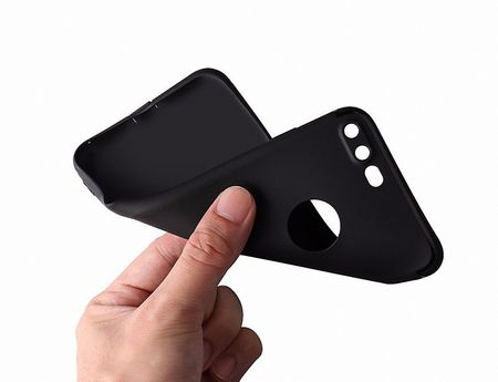 Apple iPhone 6 Plus / 6s Plus Handyhülle Bumper Case Schwarz Silikon Hülle – Bild 4