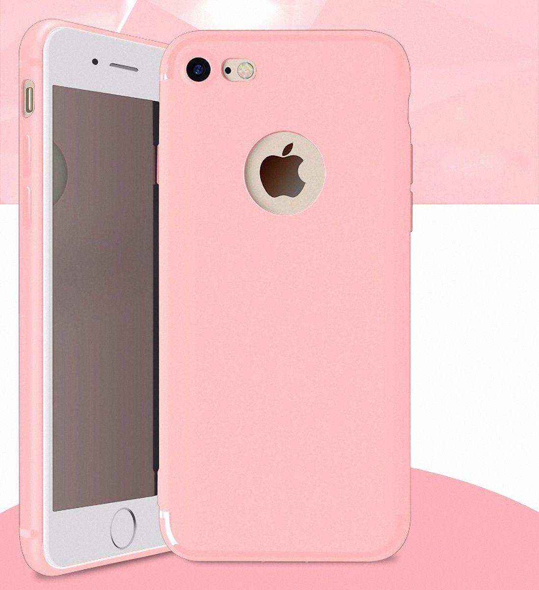 tpu case f r apple iphone 7 rosa. Black Bedroom Furniture Sets. Home Design Ideas