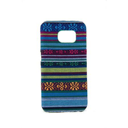 Handyhülle aus Stoff-Case für Samsung Galaxy S6 Edge Cover Etuis Bumper Blau