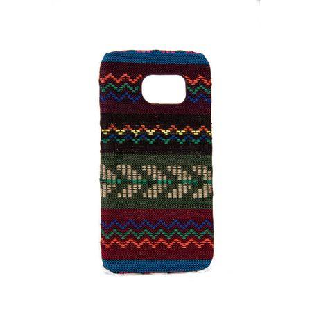 Handyhülle aus Stoff-Case für Samsung Galaxy S6 Edge Cover Etuis Bumper Braun