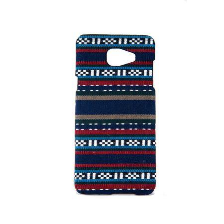 Handyhülle aus Stoff-Case für Samsung Galaxy A5 2016 Cover Etuis Bumper Blau