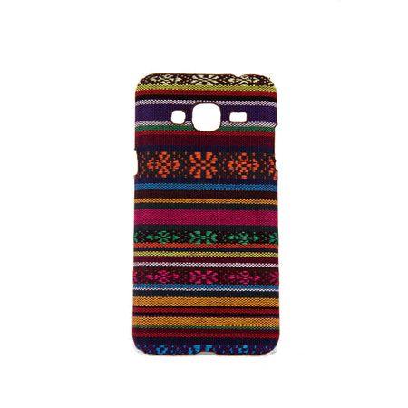Handyhülle aus Stoff-Case für Samsung Galaxy J3 2016 Cover Etuis Bumper Orange