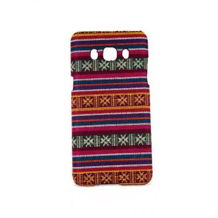 Handyhülle aus Stoff-Case für Samsung Galaxy J5 2016 Cover Etuis Bumper Pink