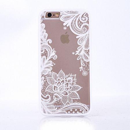 Handy Hülle Mandala für Samsung Galaxy S6 Edge Design Case Schutzhülle Motiv Blüte Cover Tasche Bumper Weiß