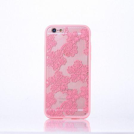 Handy Hülle Mandala für Samsung Galaxy S6 Edge Design Case Schutzhülle Motiv Blüten Cover Tasche Bumper Rosa