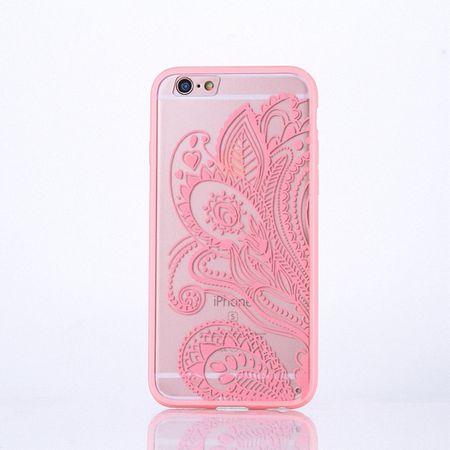 Handy Hülle Mandala für Samsung Galaxy S6 Edge Design Case Schutzhülle Motiv Blüte Cover Tasche Bumper Rosa