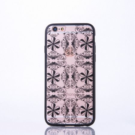 Handy Hülle Mandala für Samsung Galaxy S7 Edge Design Case Schutzhülle Motiv Ornamente Cover Tasche Bumper Schwarz