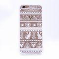 Handy Hülle Mandala für Samsung Galaxy S7 Edge Design Case Schutzhülle Motiv Ägyptische Zeichen Cover Tasche Bumper Weiß 001