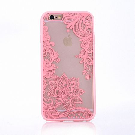 Handy Hülle Mandala für Samsung Galaxy S7 Edge Design Case Schutzhülle Motiv Blüte Cover Tasche Bumper Rosa