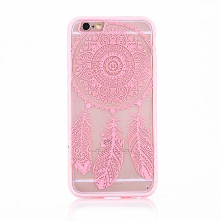 Handy Hülle Mandala für Samsung Galaxy S7 Edge Design Case Schutzhülle Motiv Traumfänger Cover Tasche Bumper Rosa