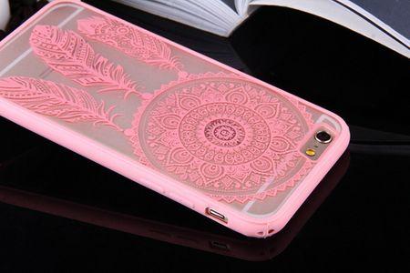 Handy Hülle Mandala für Huawei P9 Design Case Schutzhülle Motiv Traumfänger Cover Tasche Bumper Rosa – Bild 7