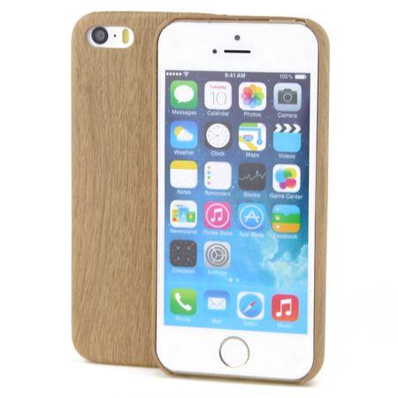 Apple iPhone 5 / 5s / SE TPU Handy Hülle Holz Optik Schutz Case Bambus Cover