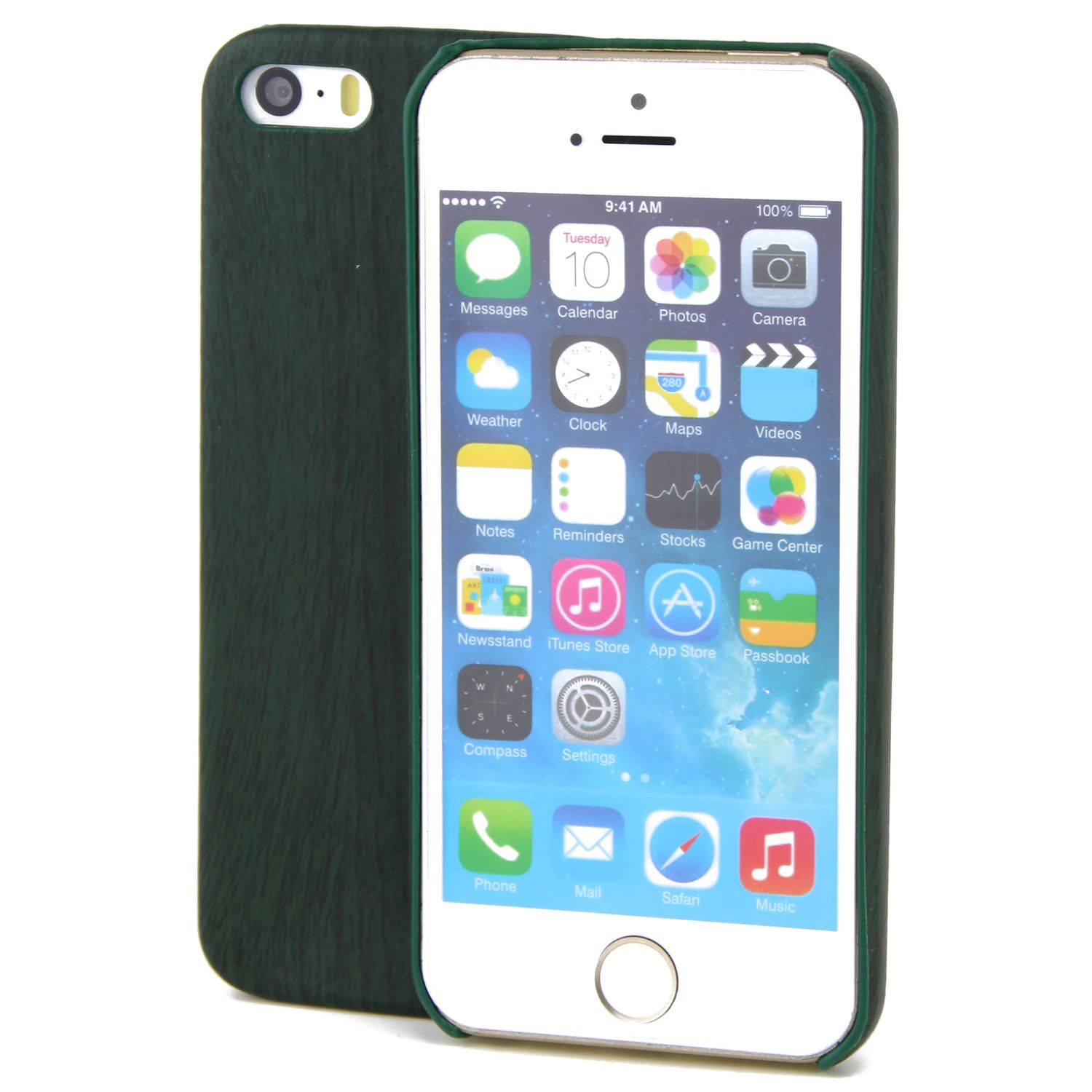 apple iphone 6 6s tpu handy h lle holz optik schutz case gr n cover. Black Bedroom Furniture Sets. Home Design Ideas