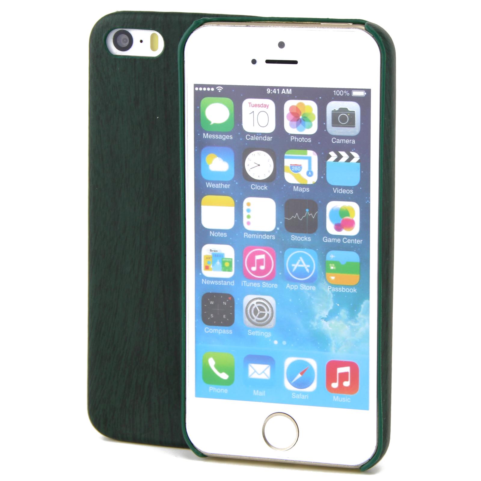 apple iphone 7 tpu handy h lle holz optik schutz case gr n. Black Bedroom Furniture Sets. Home Design Ideas