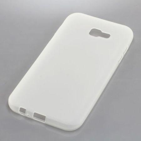 Handy Hülle TPU Schutz Case Bumper Schale für Samsung Galaxy A7 2017 Transparent Neu