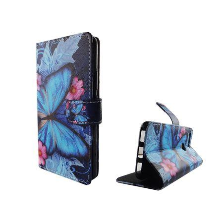 Handyhülle Tasche für Handy Google Pixel Blauer Schmetterling