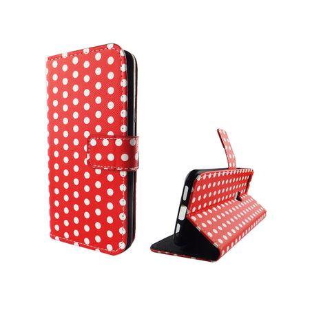 Handyhülle Tasche für Handy Google Pixel XL Polka Dot Rot