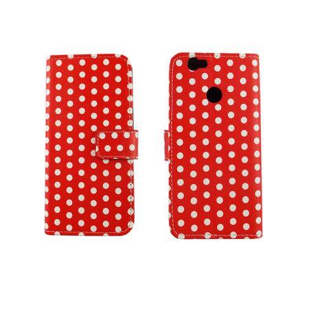 Handyhülle Tasche für Handy Huawei Nova Polka Dot Rot – Bild 3
