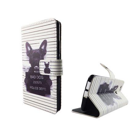 Handyhülle Tasche für Handy Huawei Nova Böser Hund Weiß – Bild 4