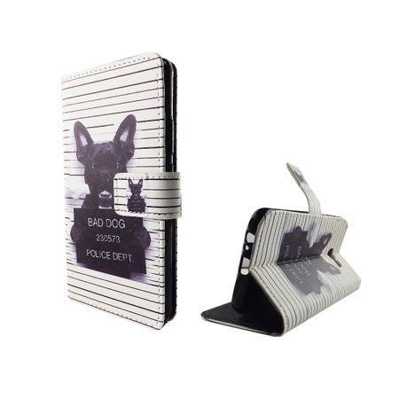 Handyhülle Tasche für Handy Samsung Galaxy A5 2017 Böser Hund Weiß