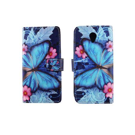 Handyhülle Tasche für Handy Vodafone Smart Prime 7 Blauer Schmetterling – Bild 6