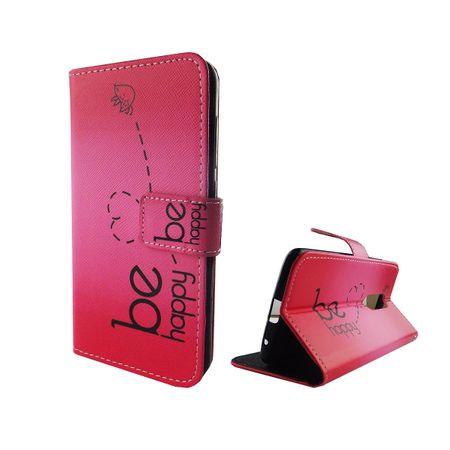 Handyhülle Tasche für Handy ZTE Axon 7 Be Happy Pink