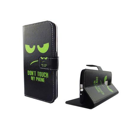 Handyhülle Tasche für Handy ZTE Axon 7 Mini Dont Touch My Phone Grün