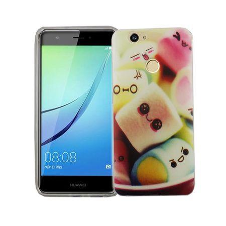 Handy Hülle für Huawei Nova Cover Case Schutz Tasche Motiv Slim Silikon TPU Schriftzug Marshmallows