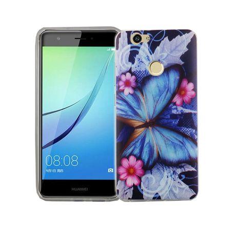 Handy Hülle für Huawei Nova Cover Case Schutz Tasche Motiv Slim Silikon TPU Blauer Schmetterling – Bild 2