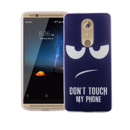 Handy Hülle für ZTE Axon 7 Mini Cover Case Schutz Tasche Motiv Slim Silikon TPU Dont Touch my Phone Blau
