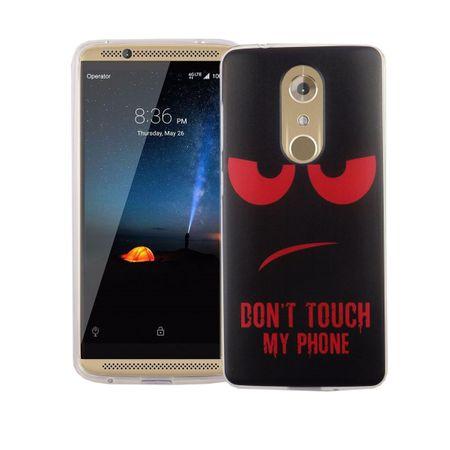 Handy Hülle für ZTE Axon 7 Mini Cover Case Schutz Tasche Motiv Slim Silikon TPU Dont Touch my Phone Rot – Bild 2