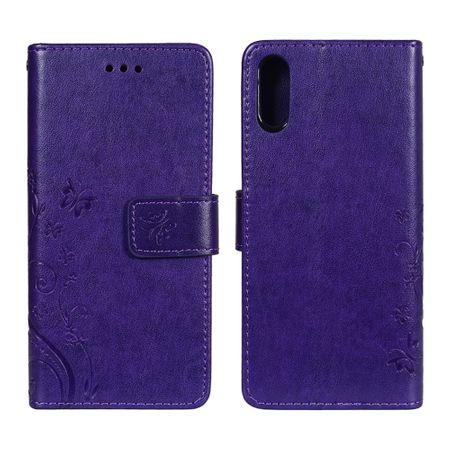 Schutz Hülle Blumen für Handy Sony Xperia XZ Violett – Bild 3