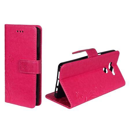 Schutz Hülle Blumen für Handy Elephone P9000 Pink