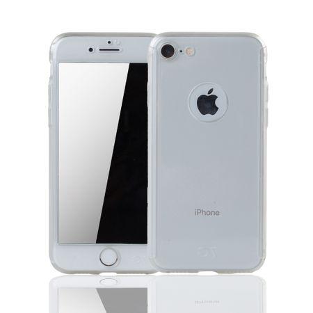 Apple iPhone 7 Handy-Hülle Schutz-Case Cover Panzer Schutz Glas Transparent Matt – Bild 1